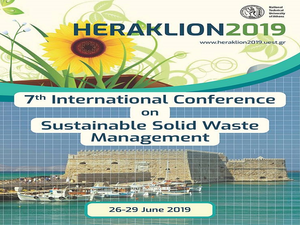7th International Conference on Sustainable Solid Waste Management Crete Island, Greece, 26–29 June 2019