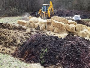Compost preparation in Greek pilot agribusiness